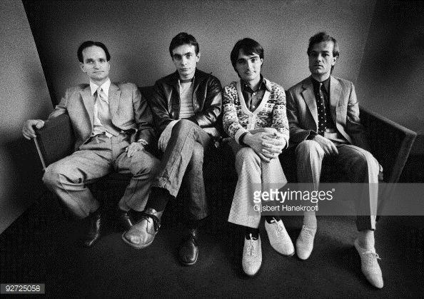 ... Kraftwerk posed in Rotterdam on March 21 1976 LR Florian Schneider Karl Bartos Wolfgang Flur Ralf ...