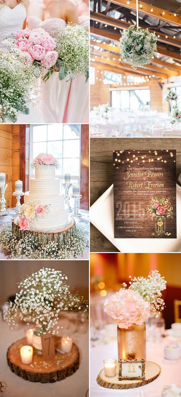 chic and elegant rustic wedding ideas with baby s breath bigweddingsideasbeautiful