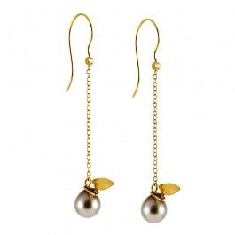 Butterfly Earrings - Handcrafted Danish Design. These long, slender earrings from Rikke Lunnemann are beautiful and minimal in style. Two Fair Trade Tahitian pearls hang from delicate 18-karat gold chains, suspended from two 0.04-carat diamonds set on golden hooks. Tiny, golden stylised butterfly wings adorn the pearls, giving these gorgeous earrings an organic look with an elegant grace of movement. http://www.nuuru.com/en/butterfly-earrings.html