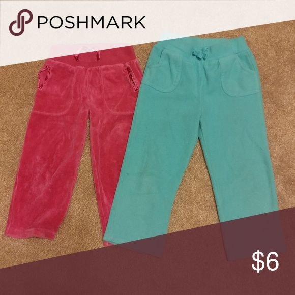 Girls 3t sweatpants One pink, one mint green sweatpants. Size 3t. Bottoms Sweatpants & Joggers