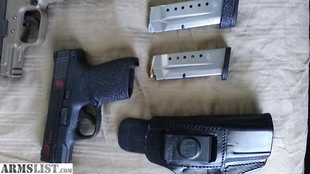 For Sale: M&P shield 9mm with extrasSave those thumbs & bucks w/ free shipping on this magloader I purchased mine http://www.amazon.com/shops/raeind No more leaving the last round out because it is too hard to get in. And you will load them faster and easier, to maximize your shooting enjoyment. loader does it all easily, painlessly, and perfectly reliably