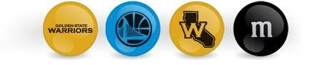 M&M's Printed Candies, NBA Golden State Warriors Blend