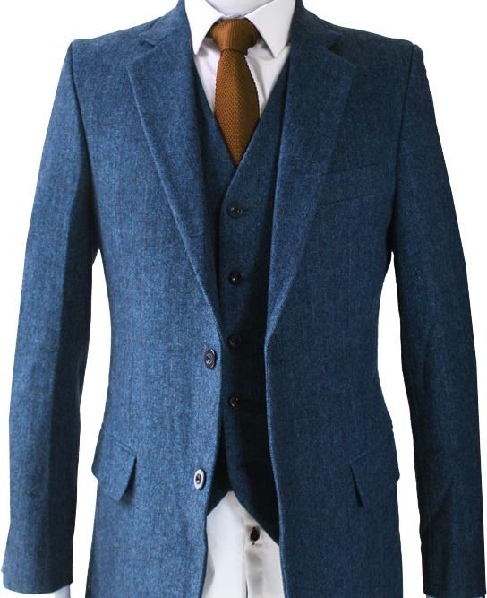 Perfect for all occasions including weddings and casual wear. Our vintage herringbone Blue Tweed Suit is made to order from the finest fabrics.