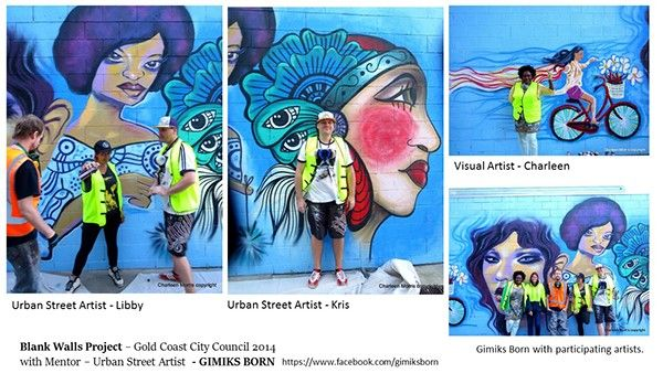Blank Walls Project - Gold Coast City Council by Charleen Morris, via Behance