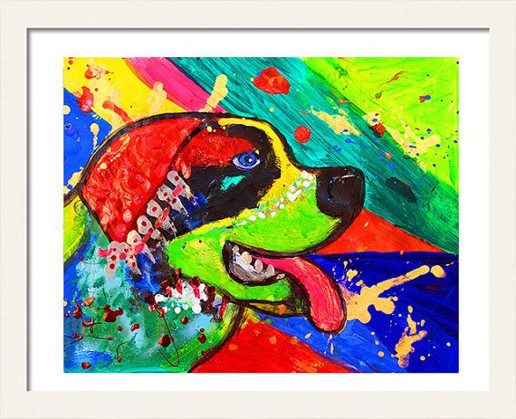 #StBernardDog #PopArtPainting #AnimalPrint #InstantDownload #KidsRoomArt #WallArtDecor #WatercolorDogArt #AnimalArt #DogPainting by #JuliaApostolova