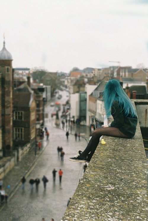 Reminds me of Karou from the book Daughter of Smoke and Bone