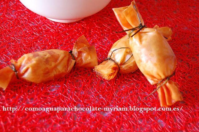 Caramelos de sobrasada y miel navidad pinterest filo - Caramelos de navidad ...