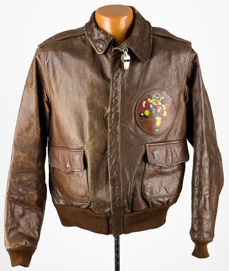 "A2 Flight Jacket and Emergency Whistle worn by HAROLD GALLAGHER (1919-2004), a fighter pilot who flew P-47s out of England with the 62nd Fighter Squadron, 56th Fighter Group, nicknamed ""Zemke's Wolf Pack"" courtesy of Alexanders Auctions.   www.warwhistles.com"