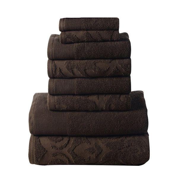 Affinity Elegance Egyptian Cotton 6 Piece Bath Towel Set Chocolate