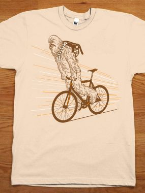 We all would have guessed Chewie rode a fixie. Chewbika: Chewbacca On A Bike Shirt By Black T-Shirt.