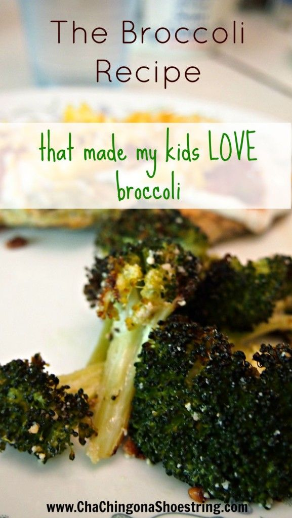 This recipe is amazing! Your kids will beg for this delicious (and easy!) roasted broccoli.