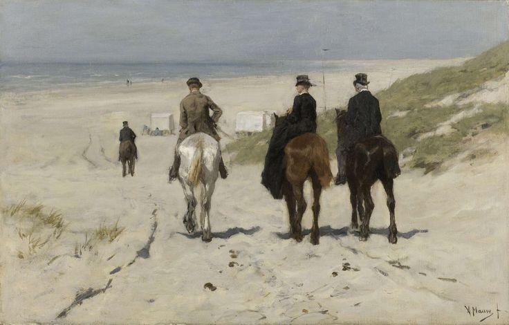 Morning Ride along the Beach, Anton Mauve, 1876
