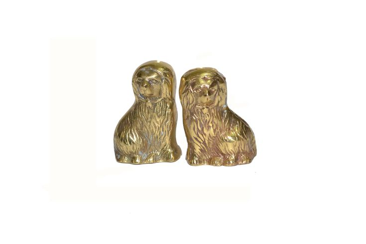 Excited to share the latest addition to my #etsy shop: Vintage Brass Staffordshire Dogs Mini Brass Dog Figurines http://etsy.me/2nAVKtn #vintage #vintagebrassdogs #staffordshiredogs