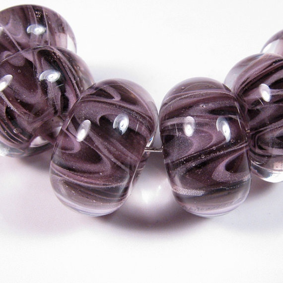 lampwork beads wisteria plum lampwork boro glass beads bbglassart