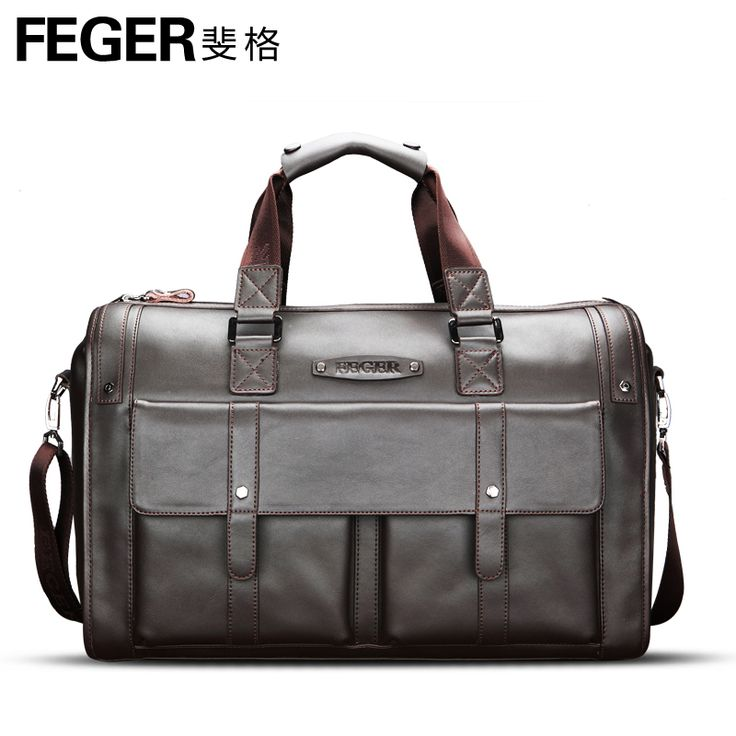 Feger ultralarge capacity commercial boarding bag male cowhide messenger bag briefcase man bag-in Luggage & Travel Bags from Luggage & Bags on Aliexpress.com