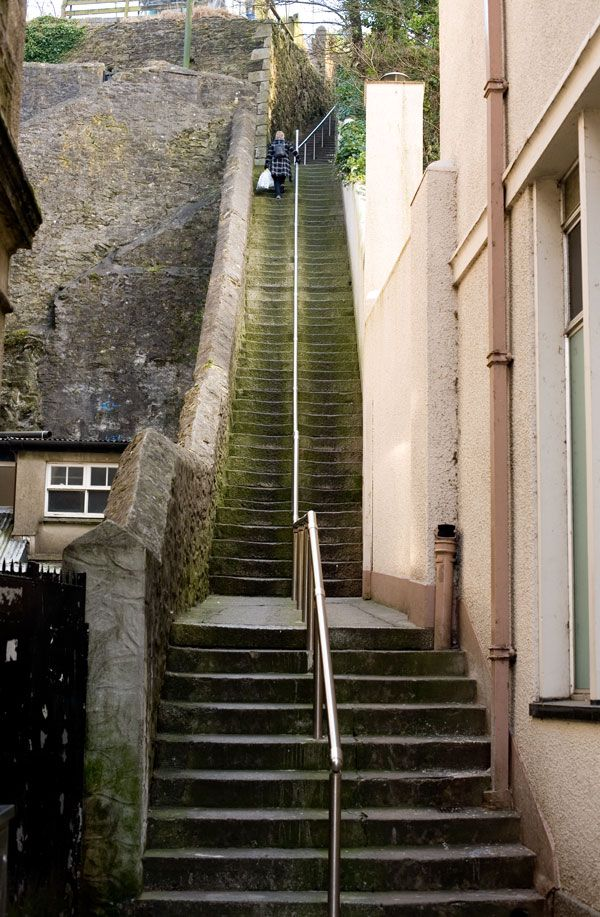 Up and down a hundred times, Jacobs Ladder, Falmouth