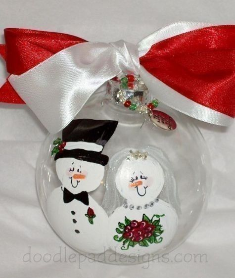 Best 20 wedding christmas ornaments ideas on pinterest for Engagement christmas tree ornaments