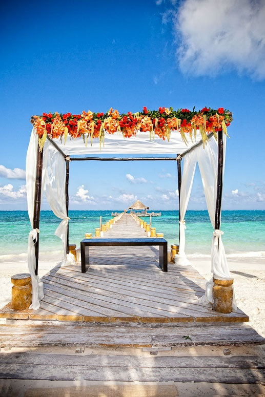 Dreamy setting for a wedding: The Riviera Maya, between Cancun and Playa del Carmen along Mexico's east coast~ Photography by callawaygable.comBeach Wedding Photography, Tropical Flower, Dreams Wedding, Beach Wedding Photos, Beach Weddings, Destinations Wedding, Wedding Venues, Honeymoons Destinations, Wedding Bride