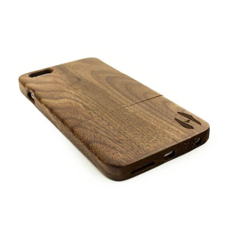Houten hoesje, iPhone 6+ (PLUS) - donker notenhout door HoentjenCreatie op Etsy