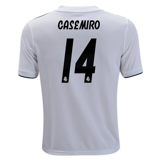 e31159840 18 19 Casemiro Jersey Number 14 Home Youth Real Madrid Team ...