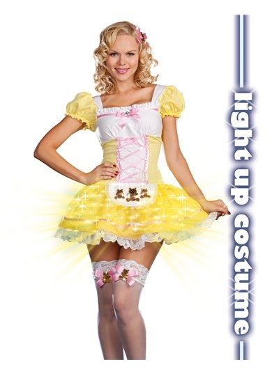 sexy fairytale fantasy goldilocks light up halloween costume - Goldilocks Halloween Costumes