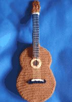 Cuatro patrones gratis amigurumi de guitarra, para el A pedido 34