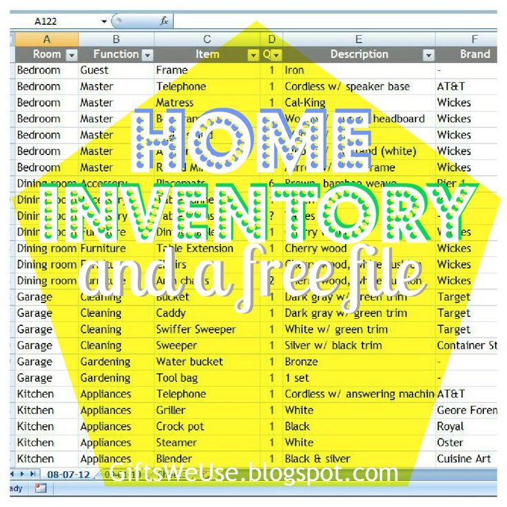 home contents inventory list template home contents inventory list