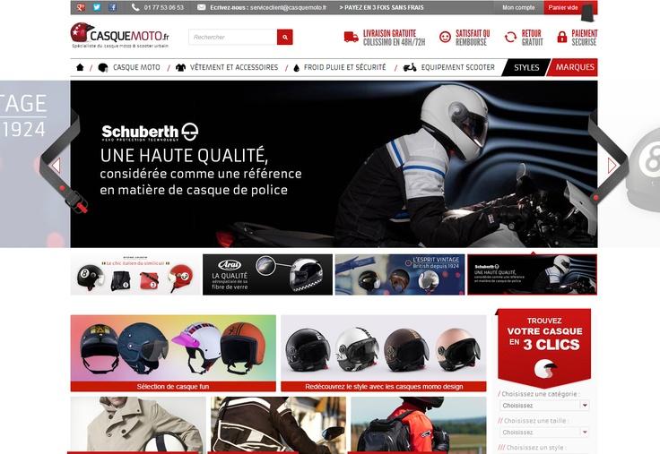 Casque Moto - #prestashop by #newquest