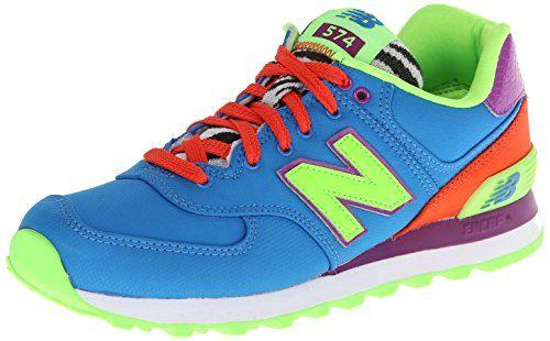 New Balance Women's Wl574 Pop Safari Pack Running Shoe,Blue/Orange/Lime,8.5 B US New Balance http://www.amazon.com/dp/B00H2QUI98/ref=cm_sw_r_pi_dp_voshvb0417257