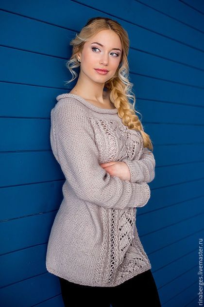 бежевый, свитер, свитер длинный, свитер туника, свитер женский, свитер с косами, вязаный свитер туника, платье вязаное, платье, вязанное платье, платье туника, платье трикотажное, платье туника