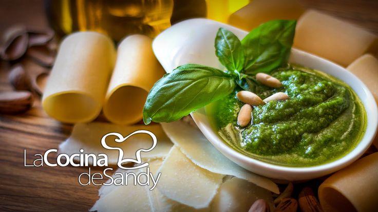 Pesto Italiano auténtico pasta y comida italiana. recetas de cocina faciles