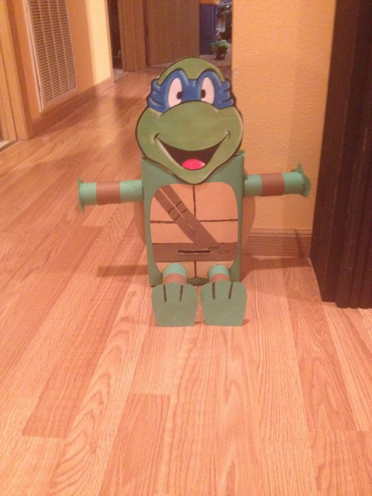 Teenage Mutant Ninja Turtle Valentine Box Idea for Boys