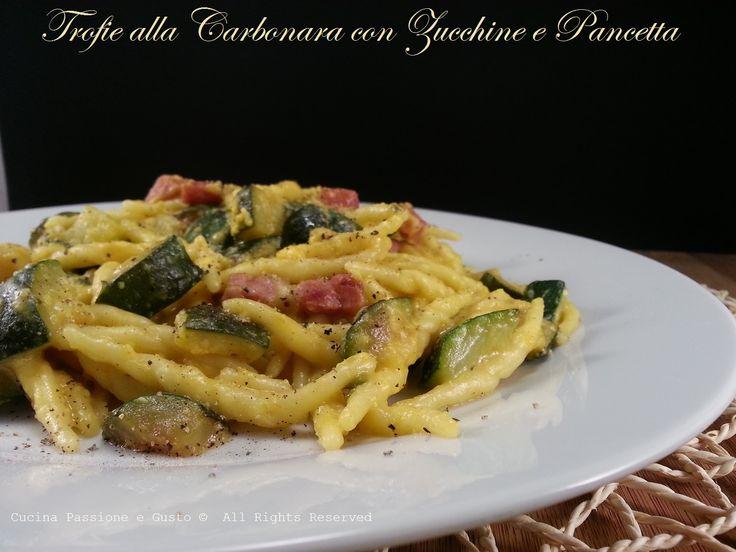 Pasta+alla+carbonara+con+zucchine+e+pancetta