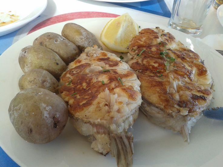 Sama (Canarian fish) + papas arrugadas