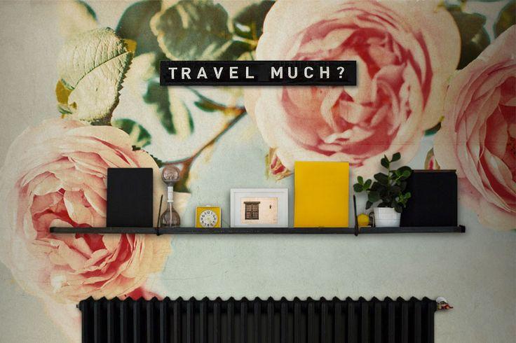 Vintage Rose Wall Mural #wallmural #wallpaper #floral #flower #interiordesign #romantic #vintage
