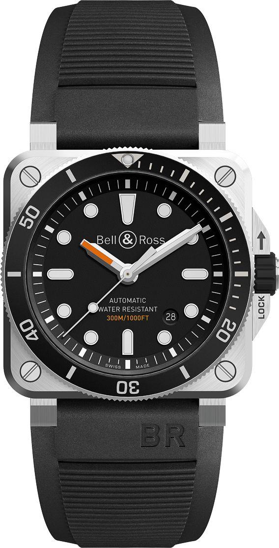 La Cote des Montres : La montre Bell & Ross BR 03-93 Diver - La première montre de plongée carrée de Bell & Ross