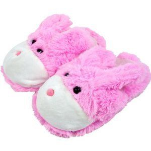 Body Trends Cuddlee Slippers – Pink Bunny Rabbit – Size L – Ages 10-12