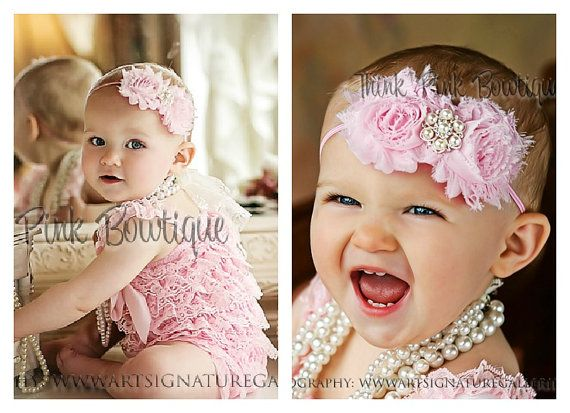 @Laura Jobson We can make these :) Pink petti lace romper and headband SET petti by ThinkPinkBows, $24.90