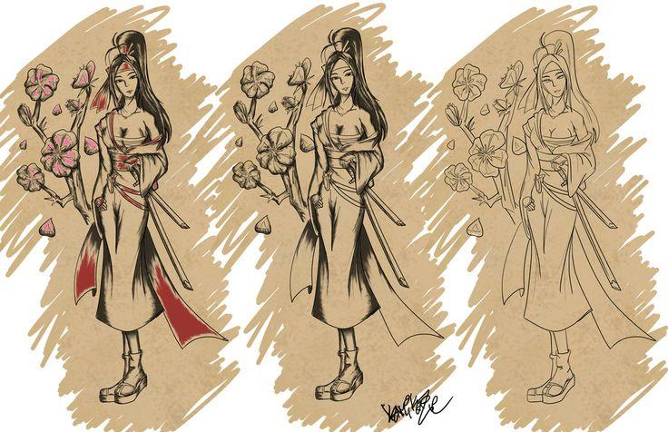 Pin female samurai wallpaper background 26410 on pinterest for Female samurai tattoo