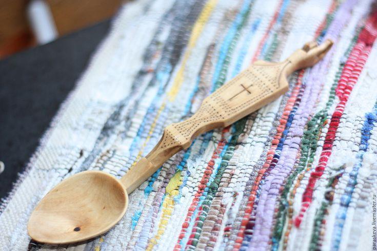 """Купить ложечка из дерева """"Причастие"""" - бежевый, ложка, ложка из дерева, ложка в подарок, ложка с декором"""