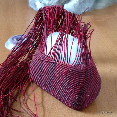 knotted waxed linen basket