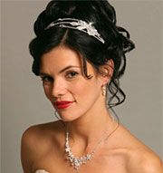 Updo with headband -- I like that it is curly but relaxed.