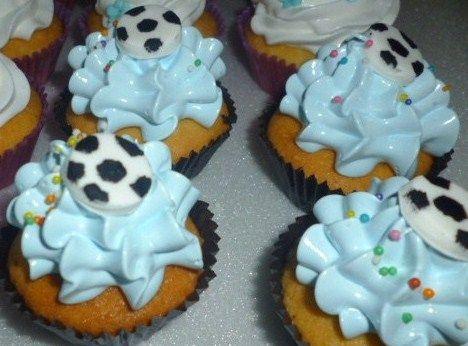 Mini Cupcake Fútbol.