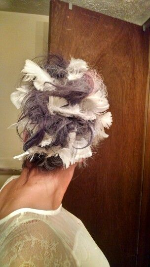 Feather hair for Hedwig costume                                                                                                                                                     More
