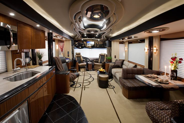 Newell Coach- uber-luxury rv. Dang!