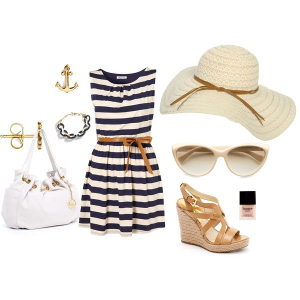 Sailor Style! Just need the dress and purse and I have the whole outfit :)