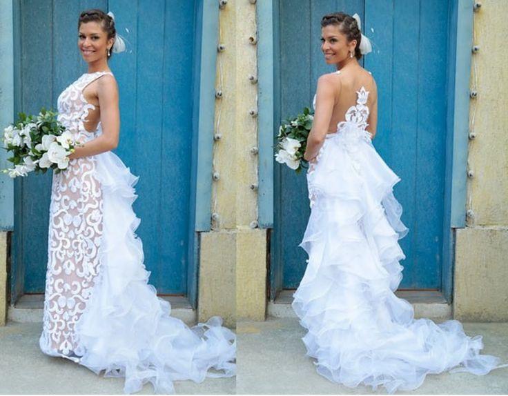 O Vestido de Noiva de Ester,Grazi Massafera, #Flor do Caribe | Woman Chic