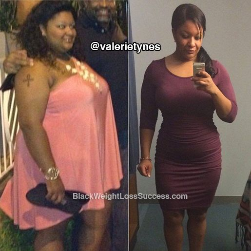 Valerie lost 102 pounds. After she saw the photos from her 30th birthday celebration, she knew that she wanted to change her life. For the last 3 years, she's been changing her relationship with food and working out hard. Read her awesome story.