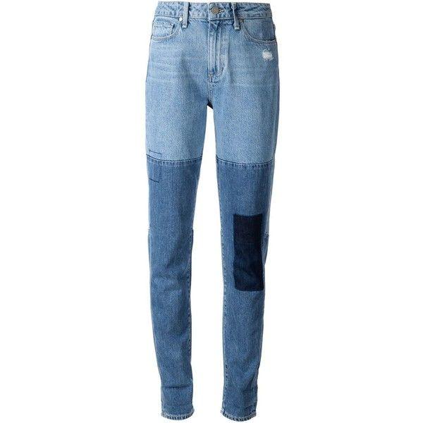 Paige patchwork boyfriend jeans (1.345 RON) ❤ liked on Polyvore featuring jeans, pants, bottoms, pantalones, blue, paige denim jeans, blue jeans, paige denim, boyfriend fit jeans and boyfriend jeans