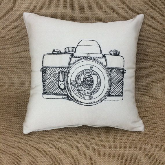 Camera Pillow, Photography Pillow, Photographer Gift, Throw Pillow, Decorator Pillow, Hobby Pillow, Housewarming Gift, photography gift